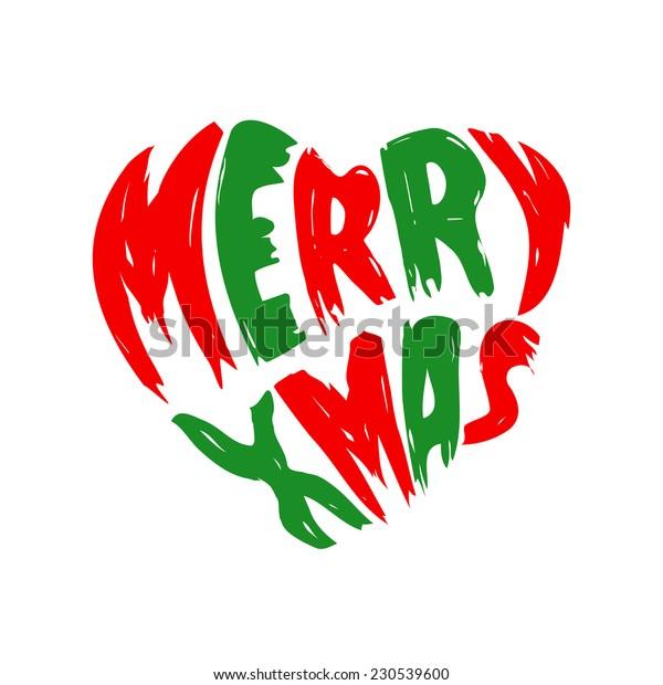 Christmas Heart Vector.Merry Christmas Heart Vector Icon Stock Vector Royalty Free