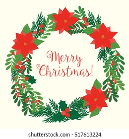Merry Christmas - holiday background - vector eps10