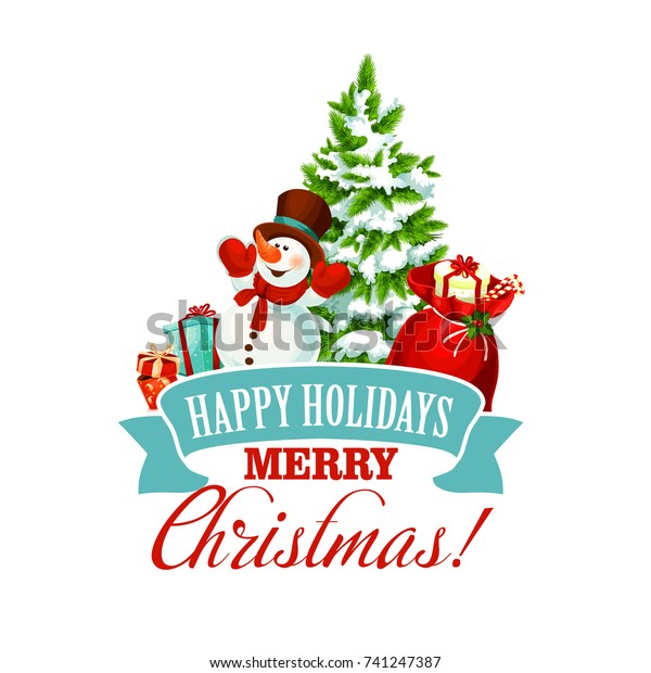 Free Merry Christmas Images.Merry Christmas Icon Happy Holiday Greeting Stock Vector