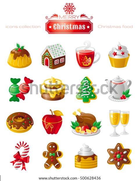 Postres Para Una Feliz Navidad.Vector De Stock Libre De Regalias Sobre Feliz Navidad