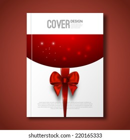 Merry christmas invitation, xmas card, cover, book template mockup layout