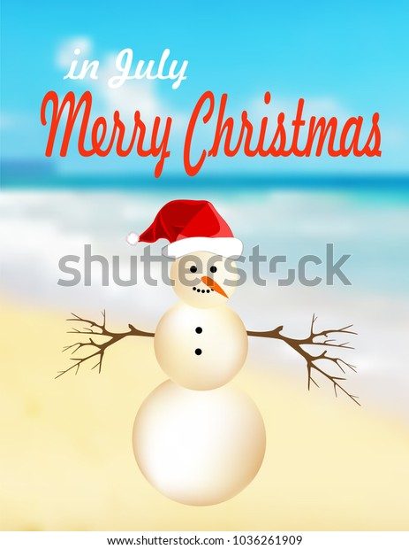 Happy Christmas In July Images.Merry Christmas July Stock Vector Royalty Free 1036261909