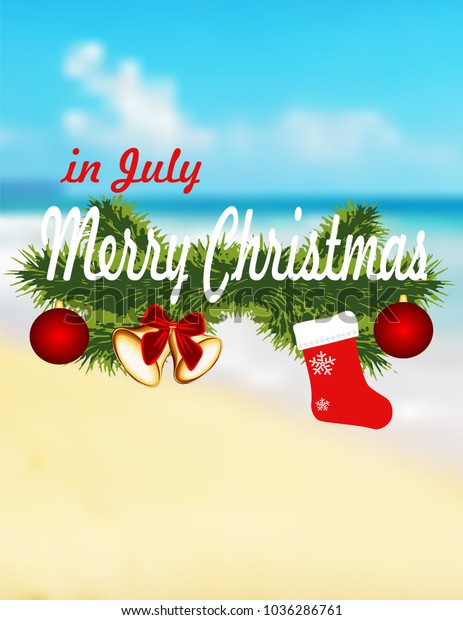 Happy Christmas In July Images.Merry Christmas July Stock Vector Royalty Free 1036286761