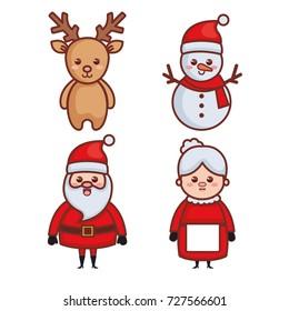 Kawaii Christmas.Kawaii Christmas Images Stock Photos Vectors Shutterstock