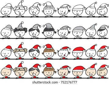 Merry christmas with kids background