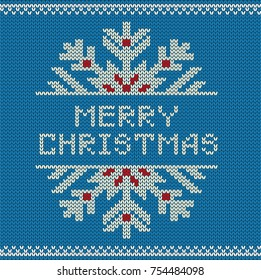 Merry Christmas Knitted Pattern