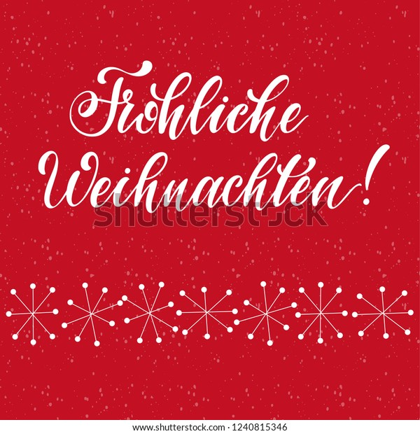 How Do You Say Merry Christmas In German.Merry Christmas Lettering On German Language Stock Vector