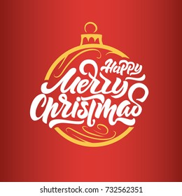 merry christmas lettering on toy on the christmas tree happy new year 2018 christmas - Merry Christmas Logos