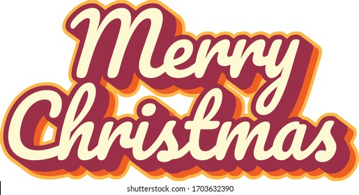 """Merry Christmas"" lettering text handwritten"