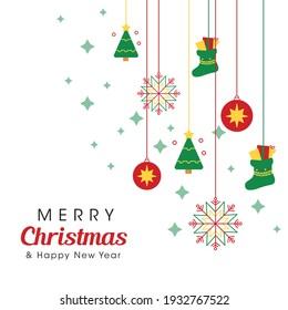 Merry Christmas logo or symbol template design