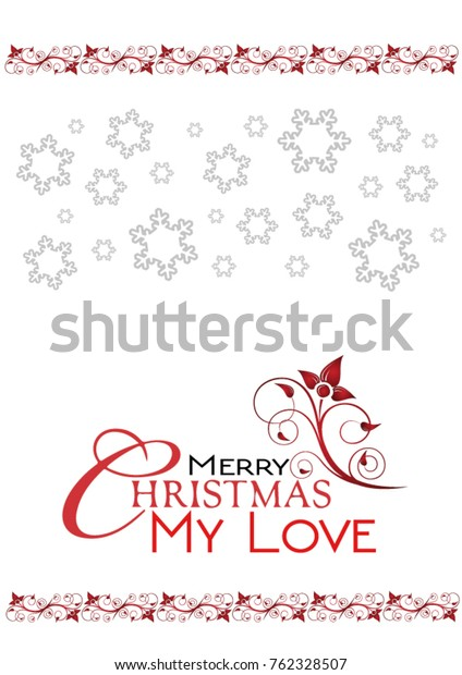 Merry Christmas My Love.Merry Christmas My Love Greetings Card Stock Vector Royalty