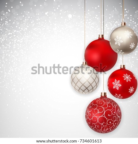 merry christmas and new year background vector illustration eps10