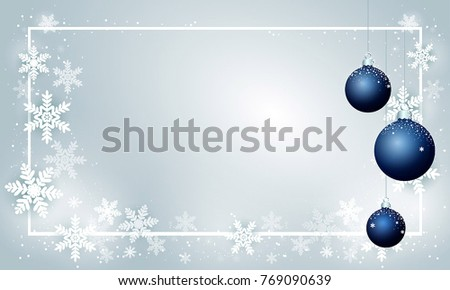 merry christmas and new year card template background greeting card with cute snowflakes