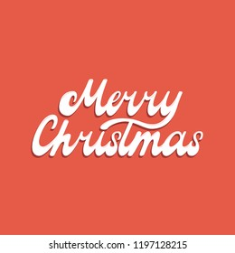 MERRY CHRISTMAS. NEW YEAR GREETING HAND LETTERING