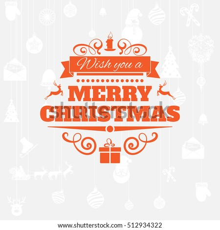 Merry Christmas New Year Greetings Badge Stock Vector Royalty Free