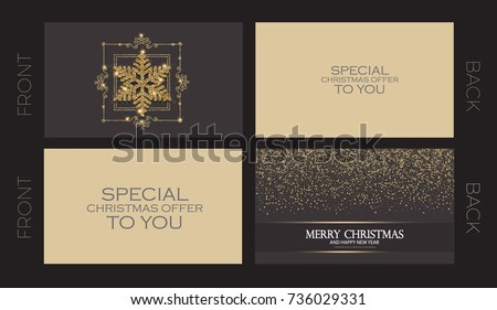 Merry christmas new year offer cards stock vector royalty free merry christmas and new year offer cards template business cards vip greetings accmission Image collections