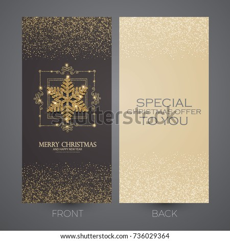 merry christmas and new year offer cards template business cards vip greetings