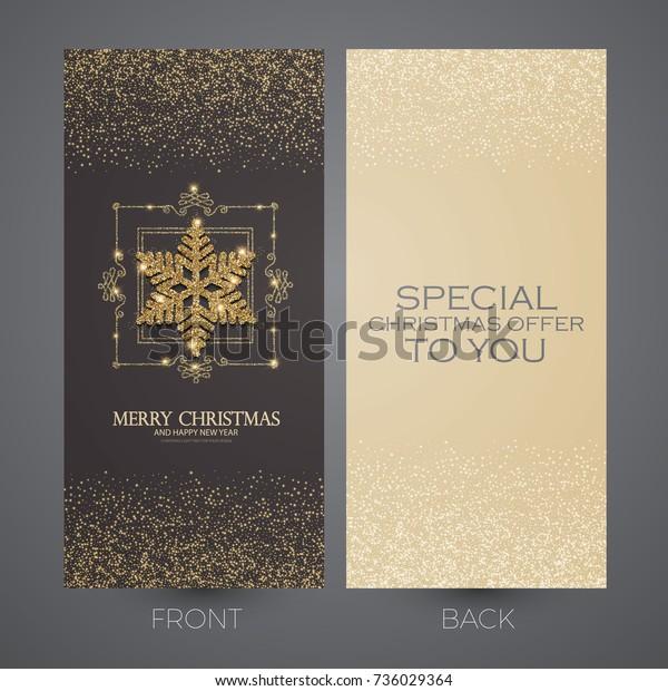 Frohe Weihnachts Und Neujahrskarten Vorlage Visitenkarten