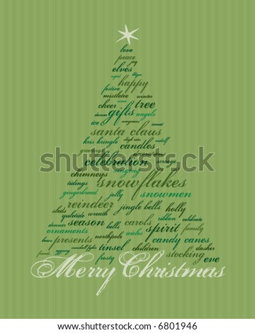 words to make out of merry christmas