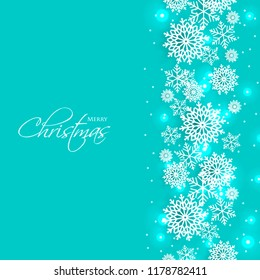 merry christmas party invitation template snowflake stock vector