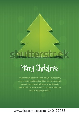 Merry Christmas Postcard Vector Flat Style Stock Vector Royalty