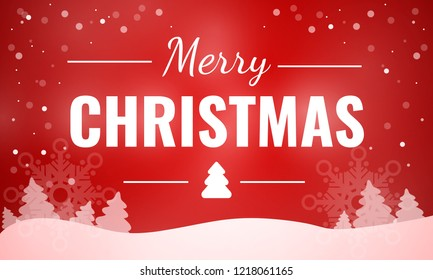 Merry christmas red email banner. Cartoon illustration of merry christmas red email vector concept banner for web design