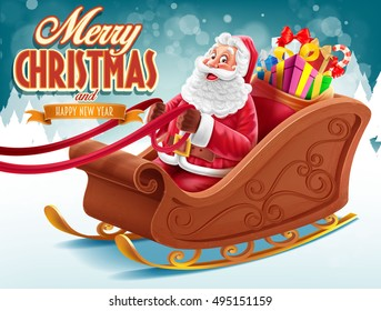 merry christmas with santa claus