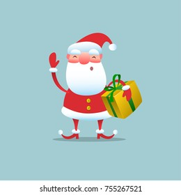 Merry Christmas! Santa Claus. Vector illustration.