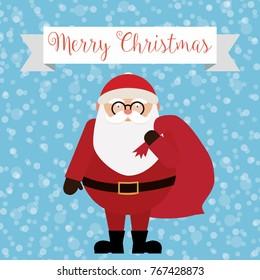 Merry Christmas - Santa Claus Vector Illustration - eps10