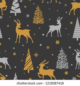 Merry Christmas Seamless Pattern.Vector Illustration.
