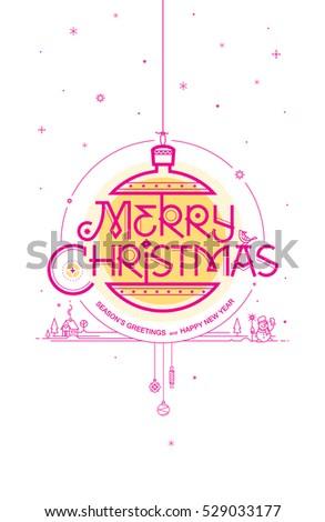 Merry christmas seasons greetings happy new stock vector royalty merry christmas seasons greetings and happy new year greeting card vector illustration m4hsunfo