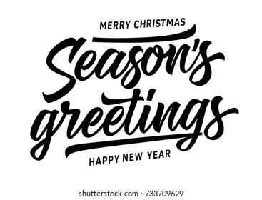 Merry Christmas Seasons Greetings Inscription