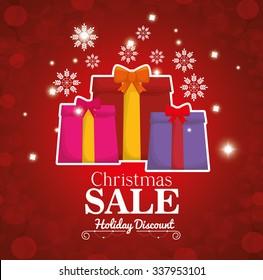 Merry christmas shopping season design, vector illustration graphic