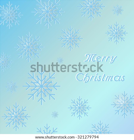 Merry Christmas Snowflakes Wallpaper Background Vector