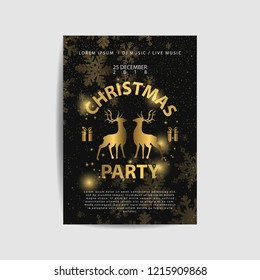 Merry Christmas sparklers in shape of Christmas wreath on black background. Object, Symbol and elements, vector illustration