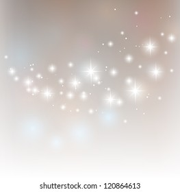 Merry Christmas starry vector background