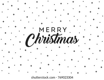Merry Christmas Stars Vector Text Background