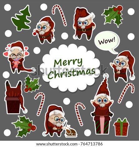 merry christmas stickers santa claus - Merry Christmas Stickers