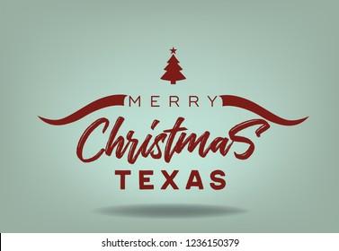 Merry Christmas Texas Logo  design abstract, Vector EPS 10.