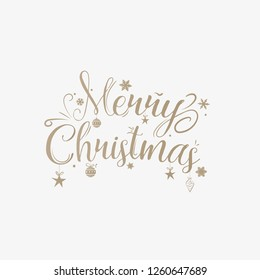 Merry Christmas Text Calligraphic. Greeting card invitation. Holiday Vector Greeting Gift Poster