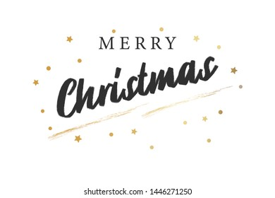 Merry Christmas text design. Vector Text. Design for banner, greeting card.