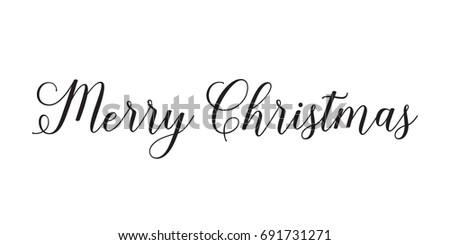 Merry christmas text greeting card banner stock vector royalty free merry christmas text greeting card or banner with calligraphy lettering m4hsunfo