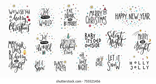 10++ Happy Christmas Lettering