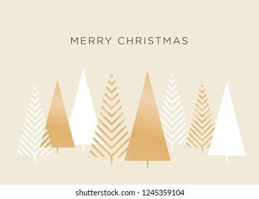 Merry Christmas Tree Icon Symbol Vector Illustration Background