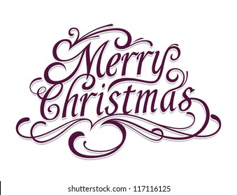 Merry Christmas Text Images, Stock Photos & Vectors | Shutterstock