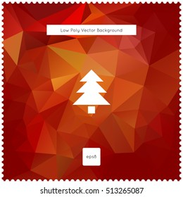 Merry christmas vector red polygonal background. The vector illustration for ui, web games, tablets, wallpapers, and patterns.