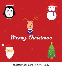 merry christmas vector santa snowman