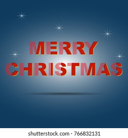 Merry Christmas vector text design card template. Creative for Holiday Greeting Gift Poster.