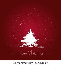 Merry Christmas watercolor brush style hand drawn vector illustration