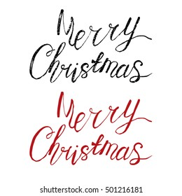 Merry Christmas watercolor hand drawn vector illustration